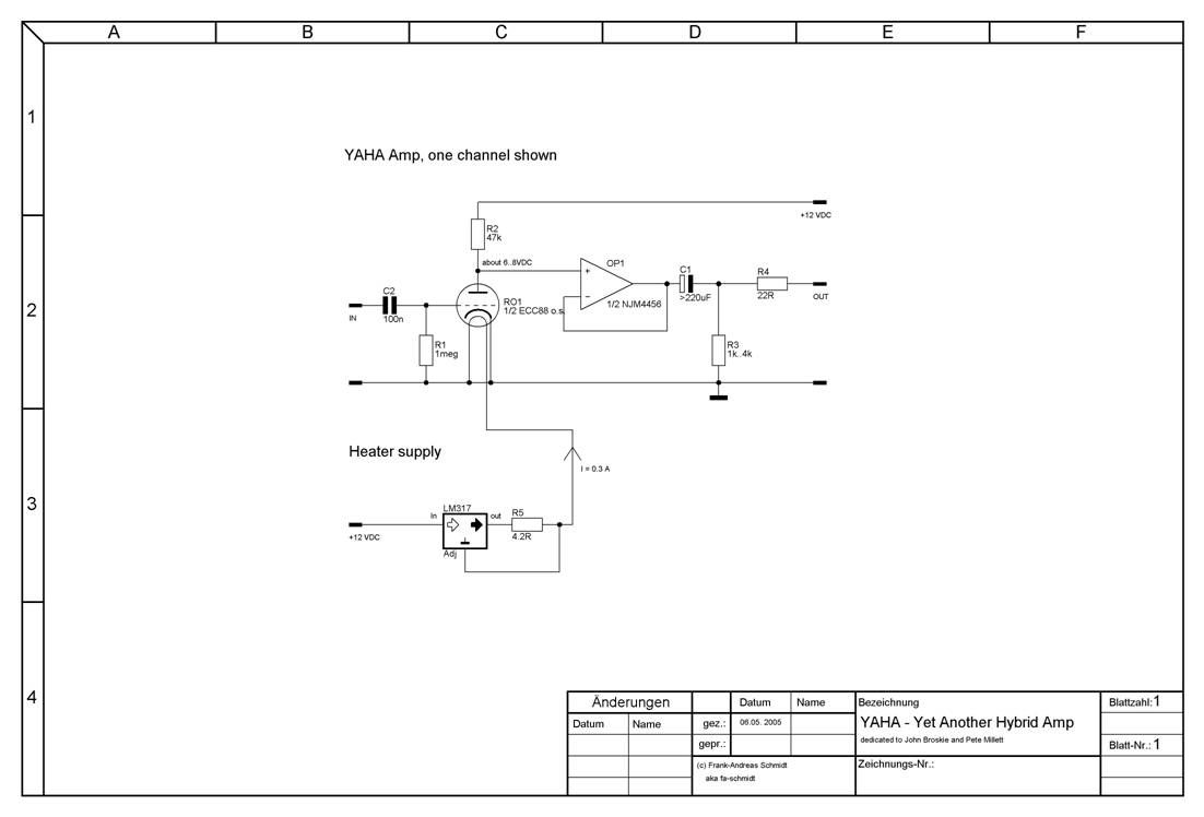 The Yaha Amp Dual Opamp Buffered Power Supply Circuit Diagram